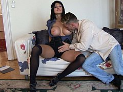 Busty Delivery girl Aletta