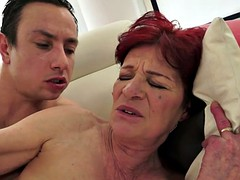 Chubby grandma screwed by younger cock