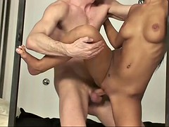 angelika black lets a horny guy penetrate her tight pleasure hole