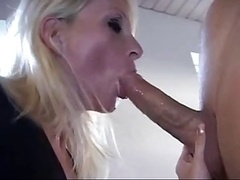 Danish blonde gagging