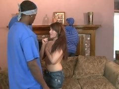 Boys from the streets found a sissy girl for sexual entertainment