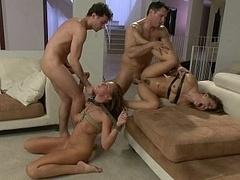 Анальный секс, Садо мазо, Бондаж, Экстремальный секс, Группа, Жесткий секс, Рабыни, Жена