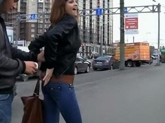 Actual public sex video with redhead