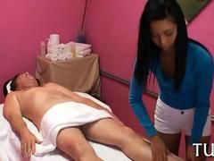 Skinny cute Asian masseuse gropes her clients on hidden cam