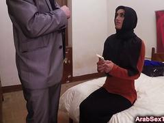 Gorgeous Arab Girl Screams While Getting Pussy Nailed On Bed