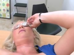 Milf has a lusty office affair with a big cock pounding her pussy