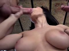 slut has 3way anal sex