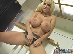 Holly Halston is a blonde gal with hooters and besides first-class snatch