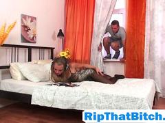 Blonde step sis Molly McNicoll forced rough doggy