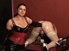 German mistress slave anal training