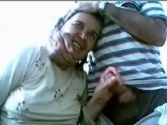 Old couple has fun on web cam- Non-pro more experienced