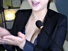 asian huge boobs milf shows her bra