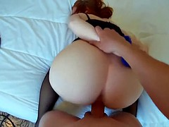 Redhead babe with a big ass gets pounded POV