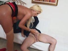 Grosse titten, Blondine, Blasen, Hardcore, Weibliche ejakulation