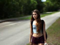 HelplessTeens Alex Mae endures outdoor sex and rope bdsm