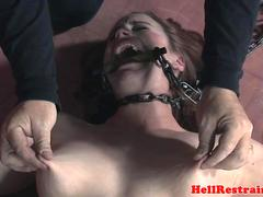 Chained sub humilated by sadistic master