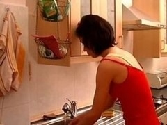 Aroused Sexually available mom Fucked Hard In Kitchen !
