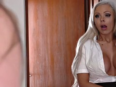 lewd stepmom nina elle tempts her girl's bf fuck her doggystyle