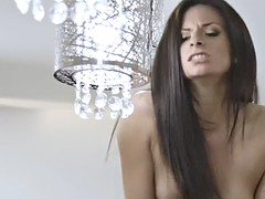 a guy gives a creampie to gorgeous alexis deen in the kitchen