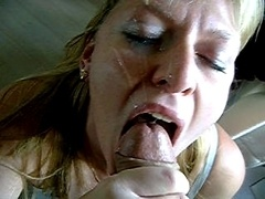 Spermaladung, Aufs gesicht abspritzen, Schlucken
