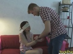 Real teen buttfucked while her bf watches