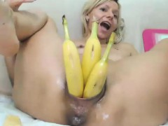 Long Hair Blonde Fisting Live on Cam