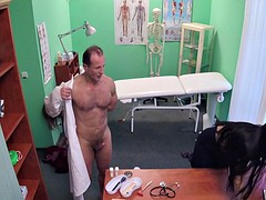 Crazy Threesome In Hospital Office