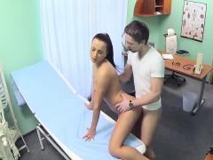Hot nurse helped dude to cum