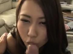 Busty Japanese loves POV style sex