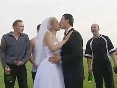 美女, 汚れた , グループ, ハードコア, アウトドア, パーティ, 結婚式
