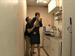 hesitant office lady being lick