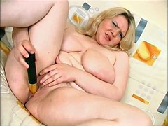 Hot Fat BBW Teen With Big tits playing with shaven pussy