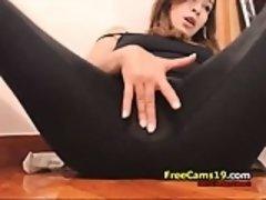 Amateur, Brunette brune, Masturbation, Solo, Webcam