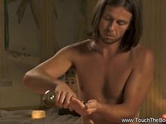 Bronze Indian Babe Gets Massage