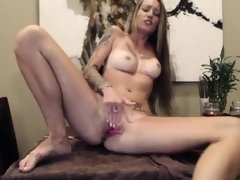 Solo ass and pussy spreading after toying masturbation
