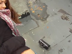 pickedup teen pov screwed on building roof