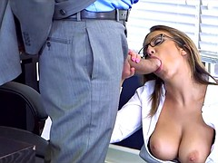 Horny Brunette Coworker