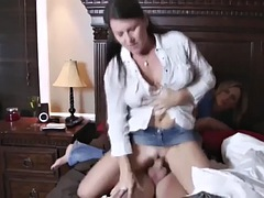 mom lets aunt fuck son
