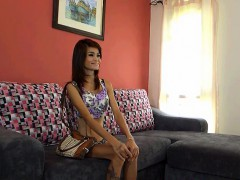 Watch how this Thai skinny teen gets the job at the GoGo bar