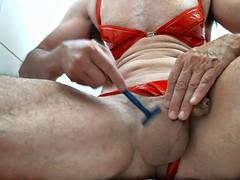 olibrius71 shave balls and anus, prolapse