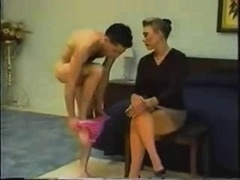 Spanked In Pink Panties With Hard Cock