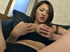 Yuki fondles her hot cans and arouses nooky