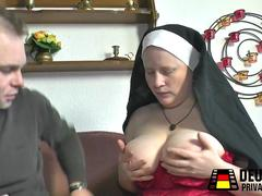 Nun with huge tits