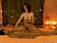 Lusty Lesbian HD Massage
