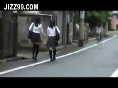 schoolgirl 3some fucked by bus geek