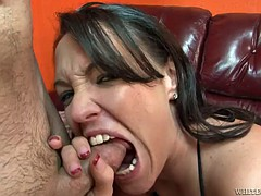 kandy kash sucks and bites on a big cock  before it cums