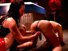 Ball Busting, Choking and Paddling By Hardcore Domina
