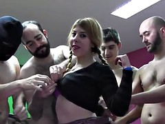 PUTA LOCURA Amateur Gangbang for Teen Reindeer