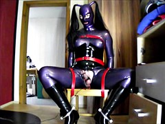 latex doll with electro milking