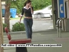 Jenny tender non-pro sexy 18-19 year old glamorous babe flashing in public